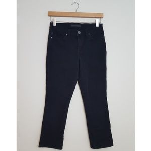 Rock and Republic Black Cropped Straight Leg Jeans